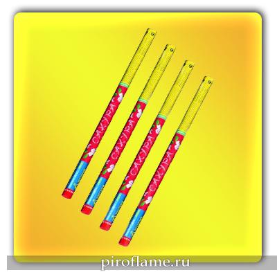 """Сакура (0,5"""" х 6 выстрелов) * набор римских свечей"""